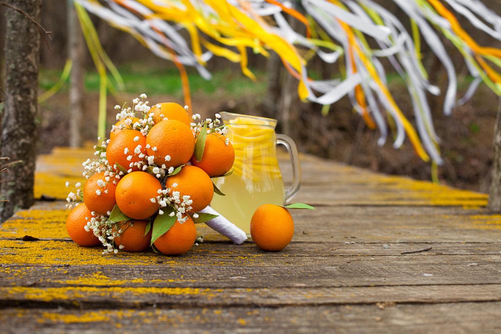 Букет из апельсинов и лимонов своими руками