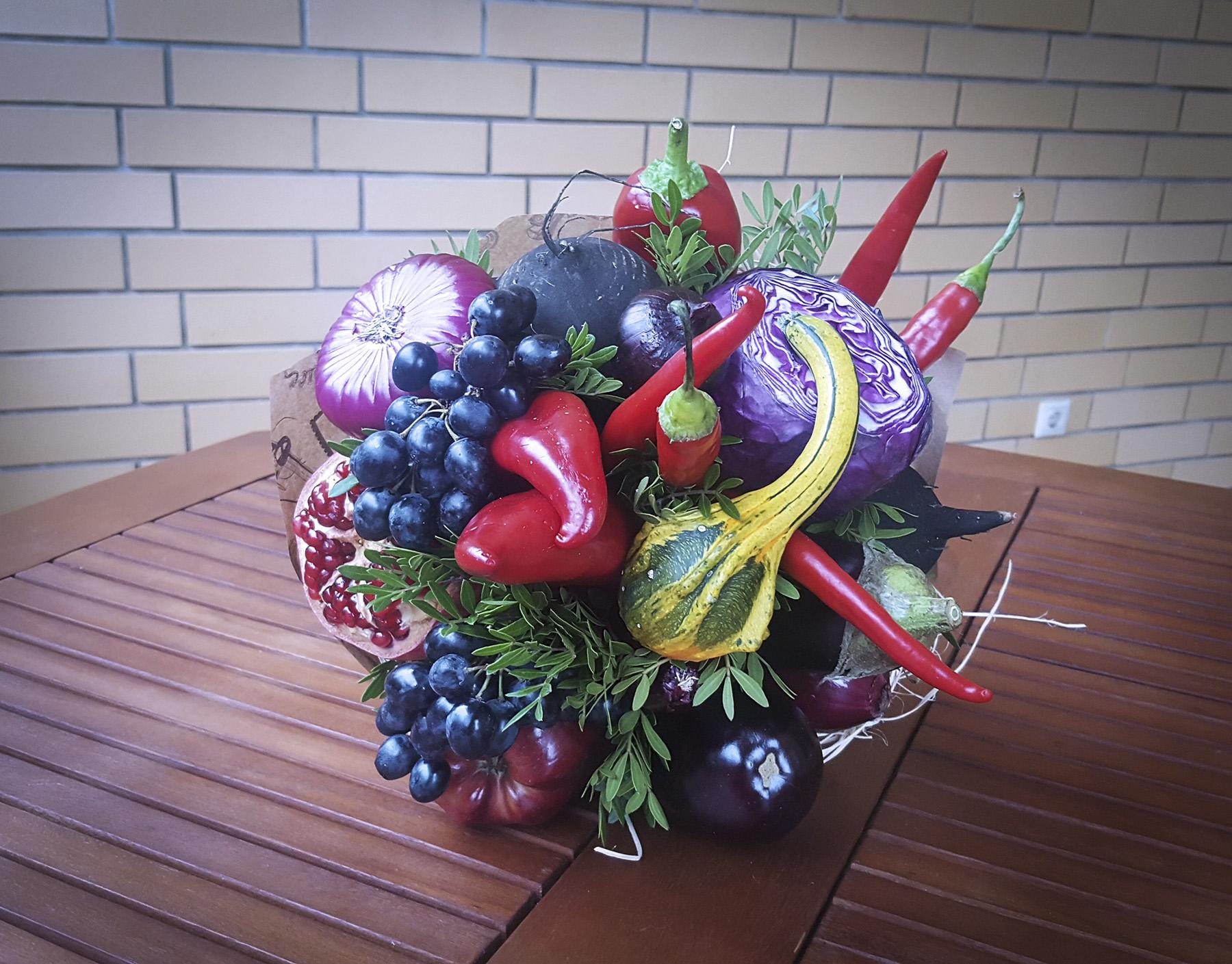 Букеты с овощами своими руками 71