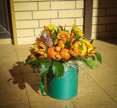 """Букет """"Оранжевое счастье"""" в шляпной коробке. Вес более 5 килограмм! Цена 7500р"""