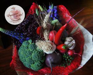 Овощной букет цена 2000р