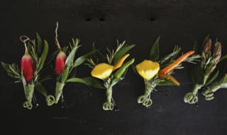 Необычные бутоньерки из овощей