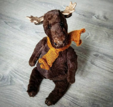 Интерьерная игрушка «Moose» ручной работы цена 120 USD