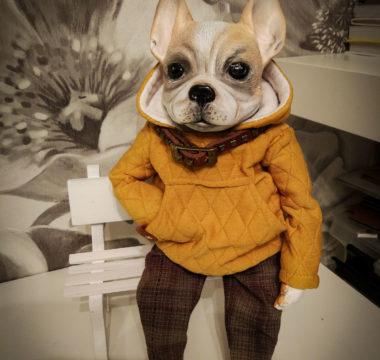 «Бульдог» авторская интерьерная игрушка цена 8500р.