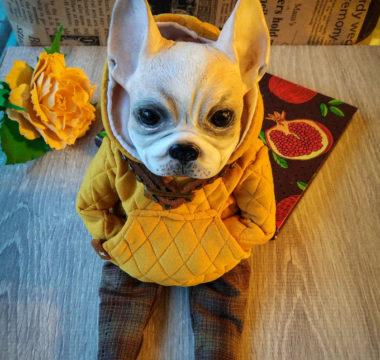 «Бульдог» авторская интерьерная игрушка цена 9.500р.