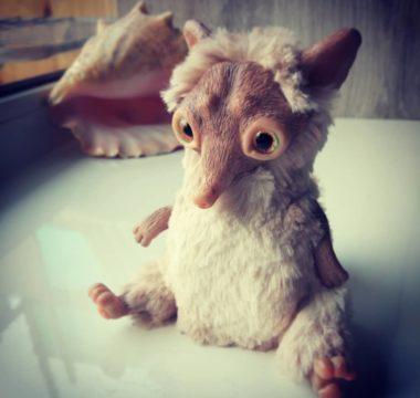 Авторская интерьерная игрушка «Лисенок» цена 4500р