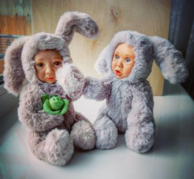 OOAK Авторская интерьерная игрушка «Братец кролик» цена 18.000р