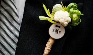 Необычные бутоньерки из овощей 280р