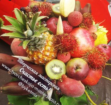 Букет «Exotic Bomb» из экзотических фруктов цена 4000р