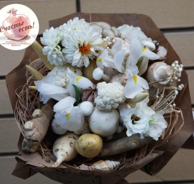 Необычный букет из овощей и грибов «БеласНежный» цена 3000р