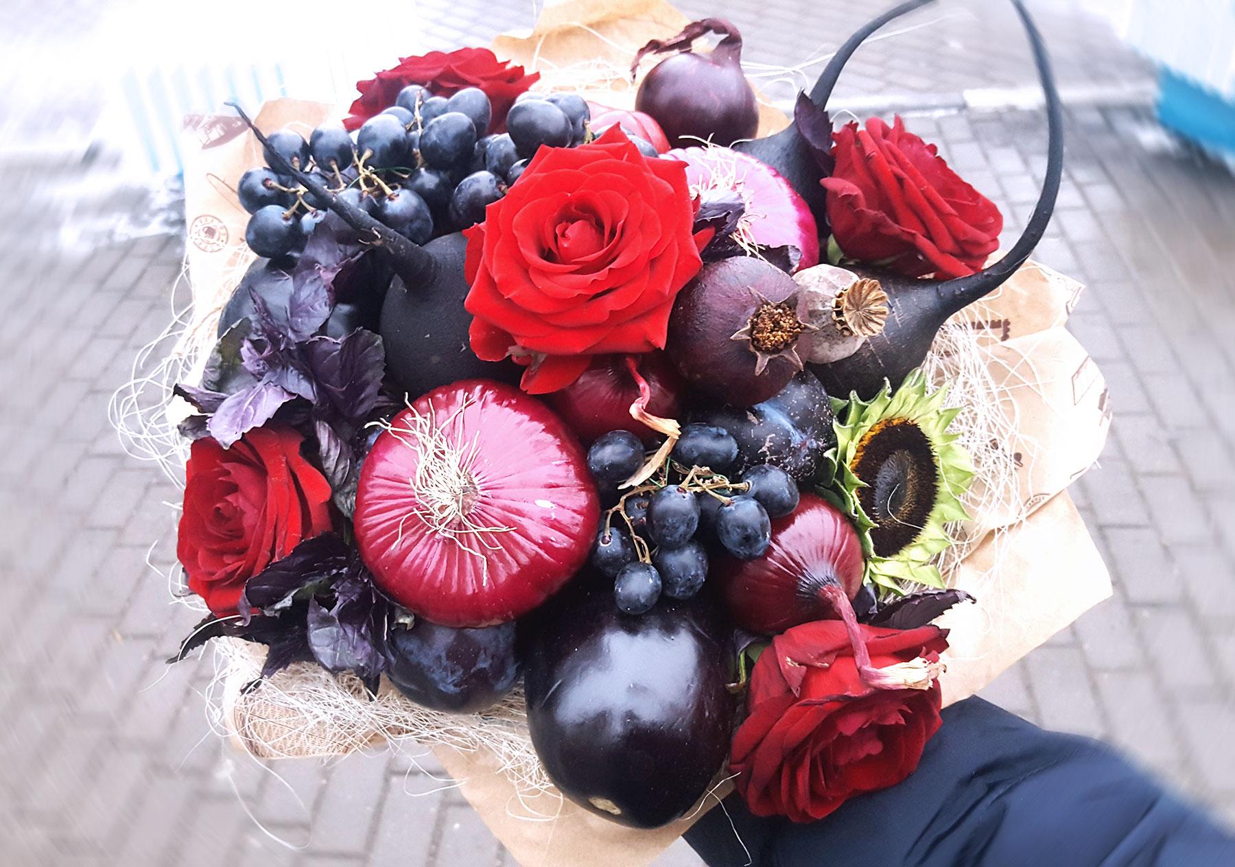 Цветы букете, продажа необычных букетов